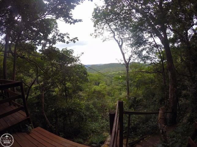 Tirolesa para Cachoeira