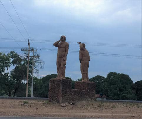 Ponto de referência Estátua dos Indios