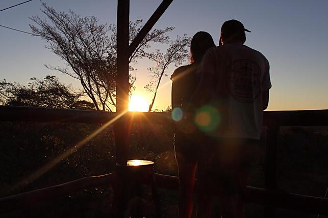 Por do sol Chapada Aventura