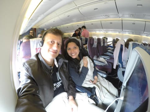 O que fazemos no avião