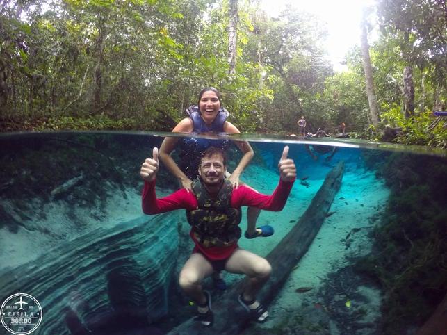 Mergulho no aquario Rio Salobra